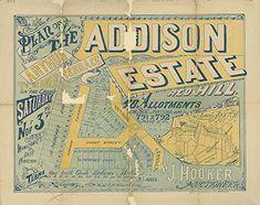 Poster Estate Map - Addison Estate, Red Hill 1888