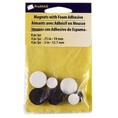Pro MAG Magnets with Foam Adhesive, Round