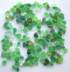 GRANDLY GREEN Variety Sea Beach Glass PS1536 by OdysseySeaGlass, $14.95