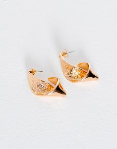 Pull&Bear - femme - accessoires - bijoux - boucles d'oreilles pliées - or - 05992316-V2017