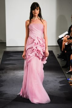 Oh So Pretty In Pink Wedding Dresss.Hot off the runway: Vera Wang, Fall 2014 Colored Wedding Gowns, Pink Wedding Dresses, Vera Wang Bridal, Aisle Style, Bridal Fashion Week, Wedding Styles, Wedding Ideas, Bridal Style, Dress Collection