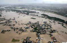 2015/9/10 茨城県常総市 鬼怒川決壊 Levee collapse of Kinugawa river.