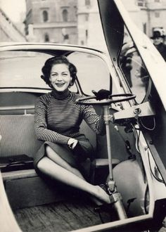 Lauren Bacall in a BMW Izetta from the 1950s.....Uploaded By www.1stand2ndtimearound.etsy.com