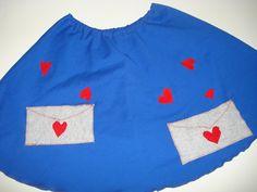 χειροποίητη φούστα γράμματα αγάπης