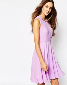 French Connection Skater Dress in Violet Vice