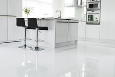 This is Satsumas Scandinavian Kitchen, Flooring, Architecture, Table, Inspiration, Furniture, Design, Ocean, White Kitchens