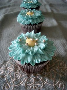 Turquoise Blue Cupcakes