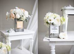 Are we all soooo glad it's friday? Today's DIY project came about because I really just missed having flowers on my desk. I love the idea of repurposing old perfume bottles and putting a few small ...