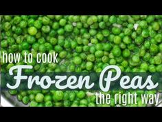 You have been cooking frozen peas wrong your entire life. Peas should not be boiled! You can have flavorful, creamy peas in less than 10 minutes. Pea Recipes, Side Dish Recipes, Vegetable Recipes, Cooking Recipes, Healthy Side Dishes, Vegetable Sides, Vegetable Side Dishes, Frozen Vegetables, Veggies