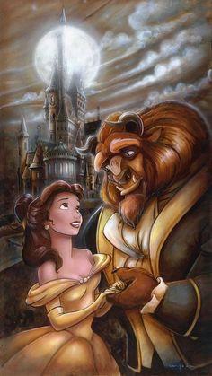 Beauty & the Beast : ? The Beauty & the Beast ? The post Disney Magic, Film Disney, Disney Couples, Disney Movies, Disney Villains, Disney Characters, Disney Princess Belle, Princesses Disney Belle, Princesa Disney Bella