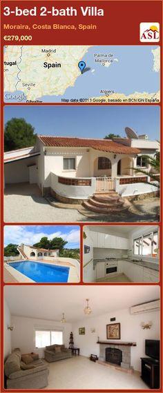 3-bed 2-bath Villa in Moraira, Costa Blanca, Spain ►€279,000 #PropertyForSaleInSpain