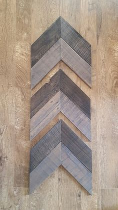 Set of 3 Small Wood Chevron Arrows, Wooden Arrow, Chevron Art, Reclaimed Pallet Wood, Painted Pallet Wood, Rustic Decor, Farmhouse Decor by RagdollAnnies on Etsy