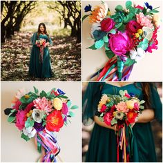 Christine Paper Design - it\'s me Crepe Paper Flowers, Felt Flowers, Paper Floral Arrangements, Rainbow Paper, Paper Design, Color Mixing, Floral Wreath, Bouquet, Fancy