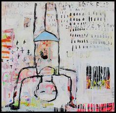 handstand - Troy Henriksen - acrylic When your world is upside down #galeriew @Galerie W Eric Landau #troyhenriksen #artcontemporain #galeriedartcontemporain #contemporaryartgallery #theplacetobe #parisfrance #contemporaryart #paris #france #europe #monde #univers #ericlandau #isabelleeuverte