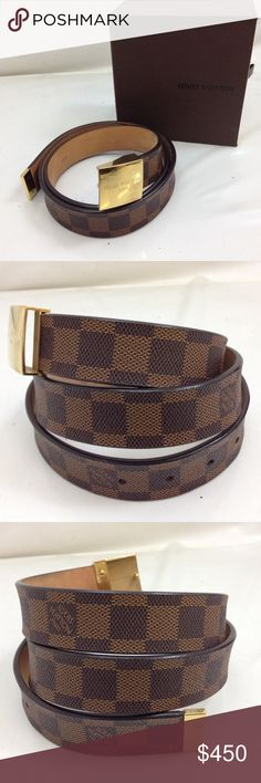 2b9ef4872d4e 李Louis Vuitton Belt 李 Authentic Louis Vuitton Damier Belt. pre loved some  scratches on