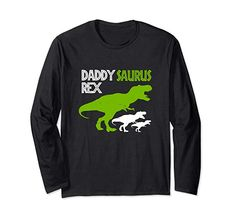 Amazon.com: Funny Father's Day Daddysaurus T Rex Gifts T-Shirt Long Sleeve T-Shirt: Clothing Fall Tops, Matching Christmas Pajamas, Funny Fathers Day Gifts, Christmas Stocking Stuffers, Matching Family Outfits, Best Christmas Gifts, Shirt Price, T Rex, Branded T Shirts