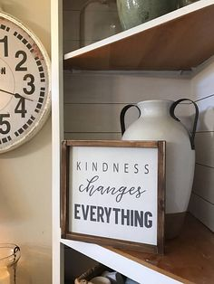 Kindness changes everything 12x12 Framed Wood Sign
