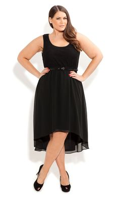 d3491e1fc2d City Chic - LACE SPLICE DRESS WITH BELT - Women s plus size fashion Plus  Size Dresses