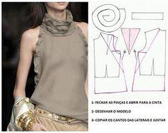 Plantillas de moda para Medida: TRANSFORMACIÓN DE BLUSAS