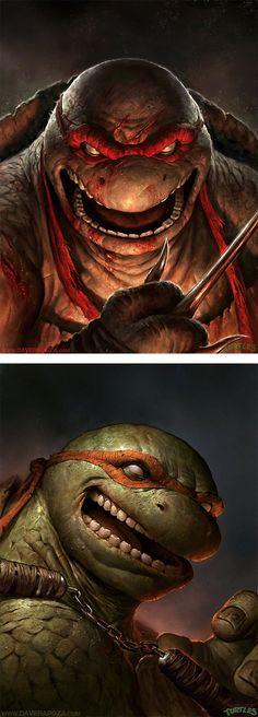 Teenage Mutant Ninja Turtles By Dave Rapoza | Inspiration Grid | Design Inspiration
