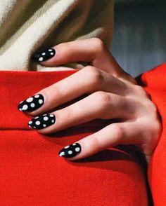 black & white nail art designs acrylic nails nail art designs  nail polish gel nails shellac nails gel nail polish french manicure dotted nail art colorful nail art 2015