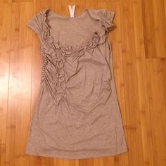 Anthropologie top In good condition. Tan color with great detail. Anthropologie Tops Tees - Short Sleeve