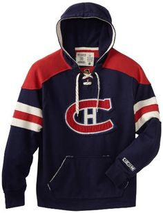 NHL Montreal Canadiens CCM Pullover Hoodie, Large by Reebok. $69.95. Montreal Canadiens Blue CCM Pullover Lace Up Hooded Sweatshirt