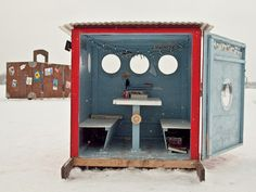 Art Shanty Projects - Minnesota Festival On Ice ; Call it the Burning Man of the Midwest : a temporary city built around artistic expression. Only this one takes place in the suburbs of Minneapolis in the middle of winter / http://www.artshantyprojects.org