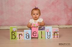 Personalized Wood Blocks -  M2M Pottery Barn's Hayley - Baby Room Decor Custom Name Letters - Baby Letter Blocks on Etsy, $8.00