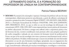 Artigo Letramento digital e a formação do professor de língua. Professor, Learning, Words, Foreign Language, Teaching, Tecnologia, Teacher, Studying