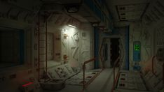 lab zone corridor by 600v on deviantART