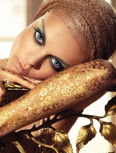 by Greg Lotus for Vogue Italia | Gold - Photography - Editorial - Fashion - Pose Idea / Posing Inspiration