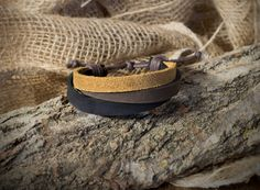 Bracciale in vera pelle uomo donna leather bracelet idea regalo MADE IN ITALY