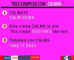 Spanish vocabulary - Calmar