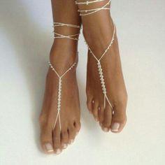Barefoot sandals,Barefoot Sandals, bridal ,Bridal Shoes , Bridal Sandals , Bridal Jewelry ,shoes , READY TO SHIP, bead, whites wedding, Bikini Women, by SibelDesign
