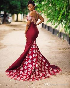 Sexy Burgundy Mermaid Long Dresses Evening Gowns With Gold Lace Appliques African High Neck Women Formal Dress One Shoulder Evening Dresses Evening Dresses Online, Evening Dresses Plus Size, Mermaid Evening Dresses, Formal Dresses For Women, Elegant Dresses, Evening Gowns, Long Dresses, Dress Online, Maxi Dresses