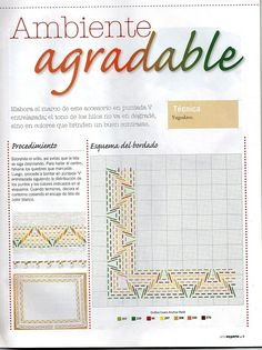 Tan 'par ago: Point strand, launched, the pioneers, vagonite, jugo etc . second part Swedish Embroidery, Types Of Embroidery, Cross Stitch Embroidery, Broderie Bargello, Swedish Weaving Patterns, Chicken Scratch, Ombre Color, Sewing Crafts, Diy Crafts