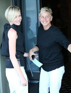 Portia de Rossi's new short hair