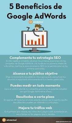 5 beneficios de Google Adwords #infografia #infographic #seo