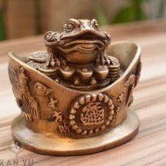 Glücksfrosch, Geldfrosch, Glücksfrösche, Feng Shui Kröte