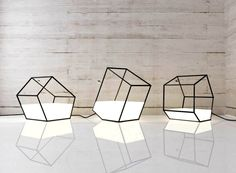 This contemporary lamp that appears as a diaphanous container, in which the light was poured. It can be carried as a handbag with light and may be of completely different sizes.