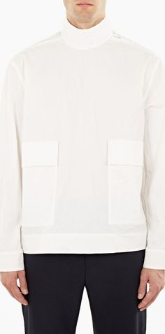 Acne Studios White Cotton Solar Shirt The Acne Studios Cotton Solar Shirt for AW16, seen here in white. - - - Acne Studios continue to pave the way in the field of contemporary design, with this unique Solar™ shirt a stand-out style from  http://www.comparestoreprices.co.uk/january-2017-6/acne-studios-white-cotton-solar-shirt.asp