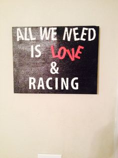 Hand painted racing canvas!