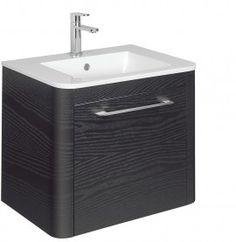 Celeste 60 Unit & Basin Black Ash in Celeste Black Ash | Bauhaus Bathrooms - Furniture, Suites, Basins - Ultimate Bathroom Solutions