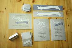baby shower invitation and labels