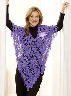 Get ready for summer weather with this lacy design that's made to fight the heat! Crafted with plenty of yarn overs and a crochet neckline, this timeless fringed knit poncho is just what your closet needs! Fun, versatile and easy to wear, this Summer Dream Poncho is the perfect pattern for the hotter months