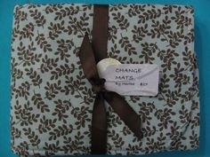 Brown and Jade Water Resistant  Baby Change Pad by BAGSbyMartha, $27.00