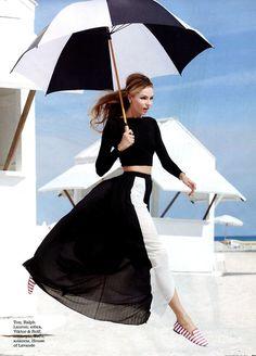 Valentina Zelyaeva by Kayt Jones for Elle Russia