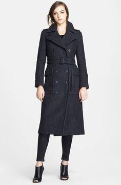 Burberry 'Framleigh' Bouclé Trench Coat on shopstyle.com