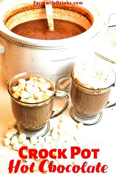 #hotchocolate #beautifully #condensed #sweetened #chocolate #insanely #crockpo... Crock Pot Hot Chocolate Recipe, Hot Chocolate Recipes, Tableware, Dinnerware, Tablewares, Dishes, Place Settings